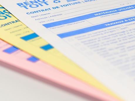 Formulaire et facture NCR